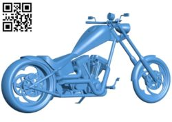 Motorcycle B005351 file stl free download 3D Model for CNC and 3d printer