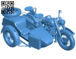 Motorcycle Zundapp 750 B005426 file stl free download 3D Model for CNC and 3d printer