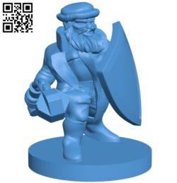 Mr Dwarf Flail Figure B005435 file stl free download 3D Model for CNC and 3d printer