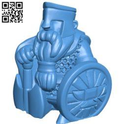 Mr Guardian dwarf B005543 download free stl files 3d model for 3d printer and CNC carving