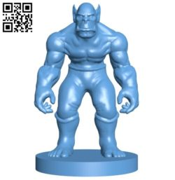 Orc man B005692 download free stl files 3d model for 3d printer and CNC carving