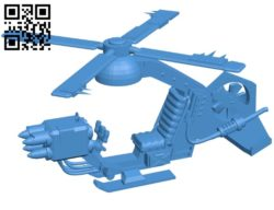 Orc's helicopter aircraft B005271 file stl free download 3D Model for CNC and 3d printer