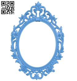 Oval picture frame or mirror A003899 wood carving file stl free 3d model download for CNC