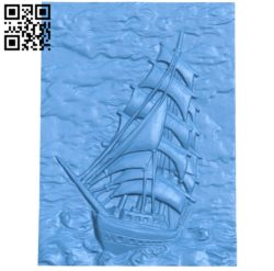 Panel Ship Picture A003884 wood carving file stl free 3d model download for CNC