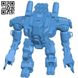Panzer mech B005616 download free stl files 3d model for 3d printer and CNC carving
