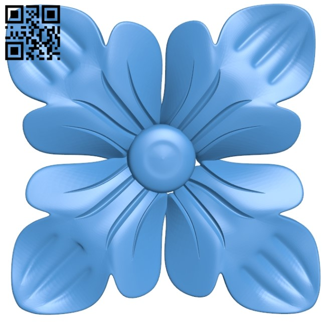 Pattern Dekor Flower A004041 Download Free Stl Files 3d Model For Cnc Wood Carving Download Free Stl Files