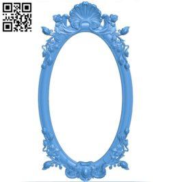 Pattern frames design A003927 wood carving file stl free 3d model download for CNC