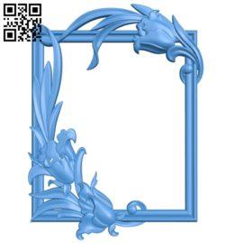 Pattern frames design A003934 wood carving file stl free 3d model download for CNC