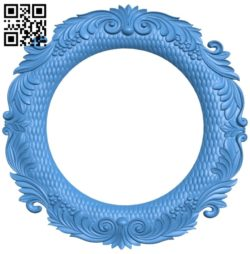 Pattern frames design circle A003933 wood carving file stl free 3d model download for CNC