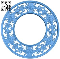 Pattern frames design circle A004141 download free stl files 3d model for CNC wood carving