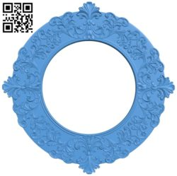 Pattern frames design circle A004142 download free stl files 3d model for CNC wood carving