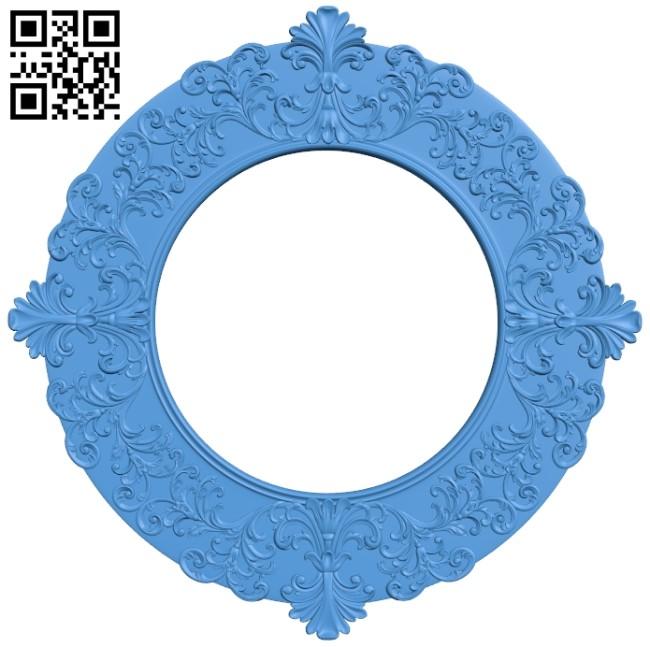 Pattern frames design circle A004142 download free stl files 3d model for CNC wood carving