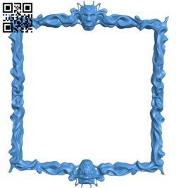 Pattern frames design square A003929 wood carving file stl free 3d model download for CNC