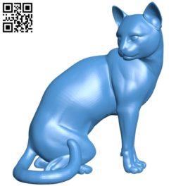 Pensive cat B005287 file stl free download 3D Model for CNC and 3d printer
