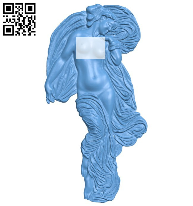 Picture Aphrodite's Rebirth A004185 download free stl files 3d model for CNC wood carving