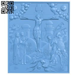 Picture Crucifixion A004167 download free stl files 3d model for CNC wood carving