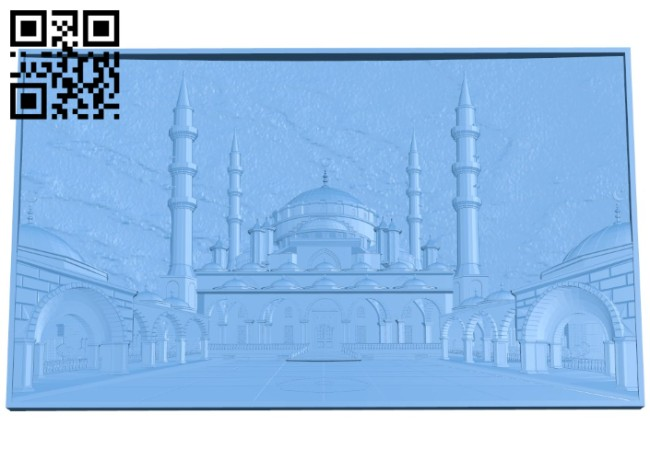 Picture Mosque heart of Chechnya A004166 download free stl files 3d model for CNC wood carving