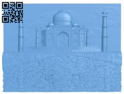 Picture Taj Mahal Mosque A004165 download free stl files 3d model for CNC wood carving