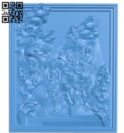 Picture baptism A004108 download free stl files 3d model for CNC wood carving