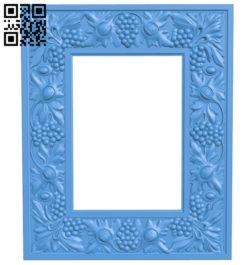 Picture frame or mirror A003896 wood carving file stl free 3d model download for CNC