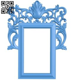 Picture frame or mirror A004006 wood carving file stl free 3d model download for CNC