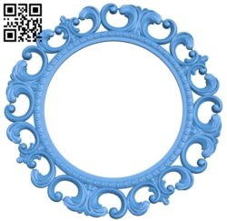 Picture frame or mirror A004034 download free stl files 3d model for CNC wood carving