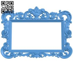 Picture frame or mirror A004035 download free stl files 3d model for CNC wood carving