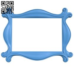 Picture frame or mirror A004036 download free stl files 3d model for CNC wood carving