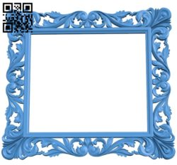 Picture frame or mirror A004037 download free stl files 3d model for CNC wood carving