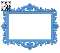 Picture frame or mirror A004038 download free stl files 3d model for CNC wood carving