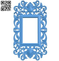 Picture frame or mirror A004081 download free stl files 3d model for CNC wood carving
