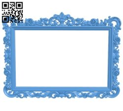 Picture frame or mirror A004082 download free stl files 3d model for CNC wood carving