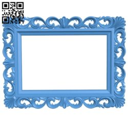 Picture frame or mirror A004083 download free stl files 3d model for CNC wood carving