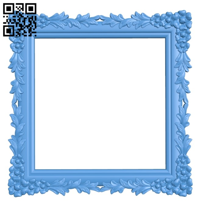 Picture frame or mirror A004140 download free stl files 3d model for CNC wood carving