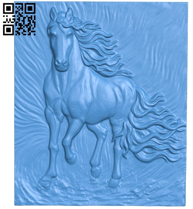 Picture running horse A004102 download free stl files 3d model for CNC wood carving