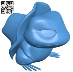 Pokemon travelling frog B005516 free download stl file 3D Model for CNC and 3d printer