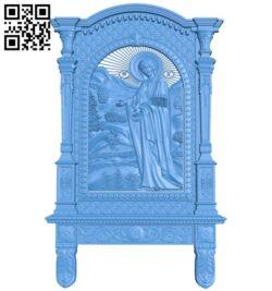 Pyukhtitskaya icon A003848 wood carving file stl free 3d model download for CNC