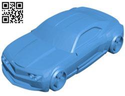 Race Camaro Car B005303 file stl free download 3D Model for CNC and 3d printer