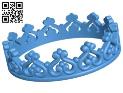 Ring crown B005613 download free stl files 3d model for 3d printer and CNC carving