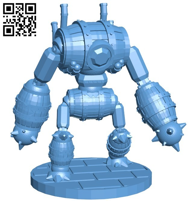 Robot barrel wine B005769 download free stl files 3d model for 3d printer and CNC carving