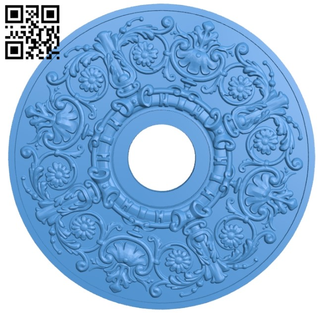 Round disk pattern A003941 wood carving file stl free 3d model download for CNC