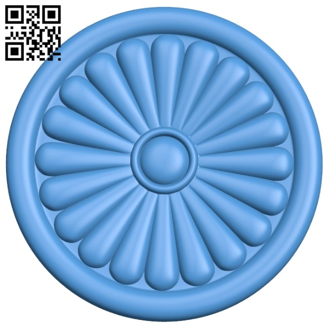 Round disk pattern A003947 wood carving file stl free 3d model download for CNC