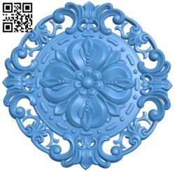 Round disk pattern A003951 wood carving file stl free 3d model download for CNC