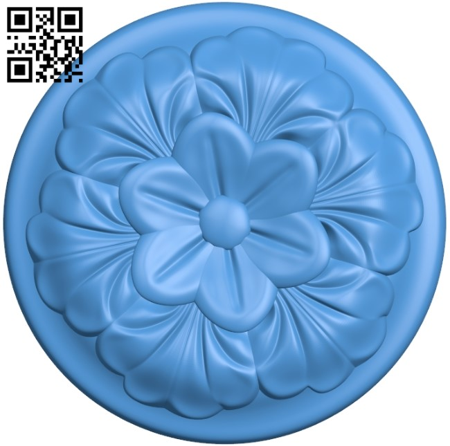 Round disk pattern A003953 wood carving file stl free 3d model download for CNC