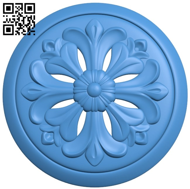 Round disk pattern A003985 wood carving file stl free 3d model download for CNC