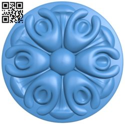 Round disk pattern A003988 wood carving file stl free 3d model download for CNC
