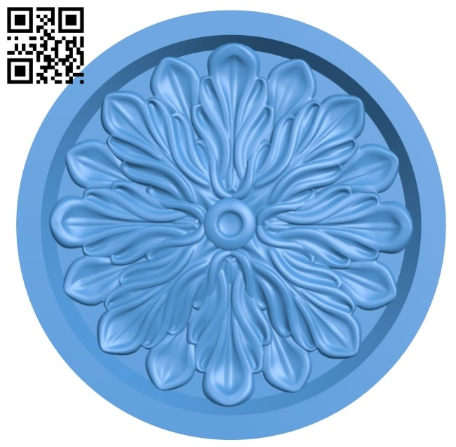 Round disk pattern A003991 wood carving file stl free 3d model download for CNC