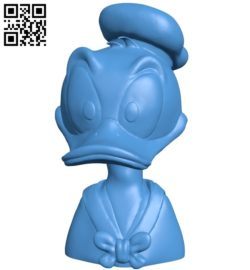 Sandpiper Donald Duck bust B005458 file stl free download 3D Model for CNC and 3d printer