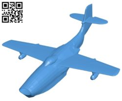 Saunders-Roe SR.A Aircraft B005272 file stl free download 3D Model for CNC and 3d printer