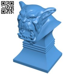 Savage Orc Bust B005279 file stl free download 3D Model for CNC and 3d printer